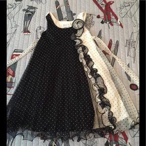 Bonnie Jean black & white dress